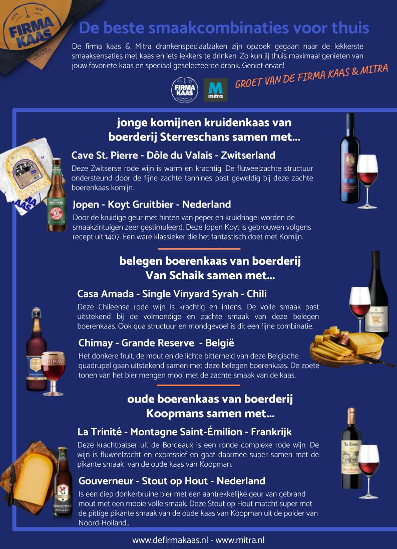 kaascombinaties wijn en kaas