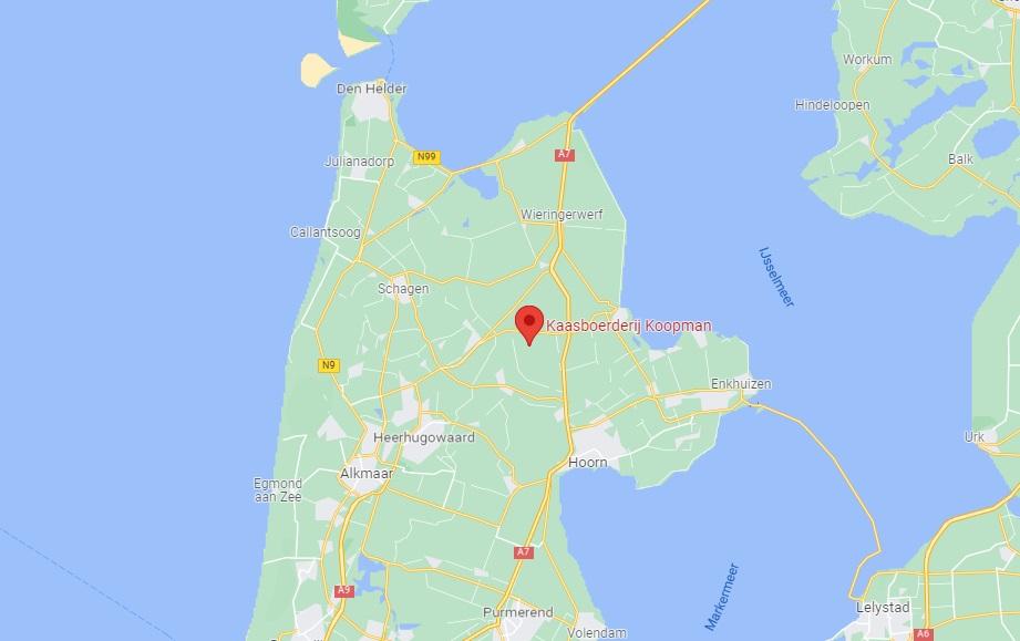 kaasboerderij koopman op google maps