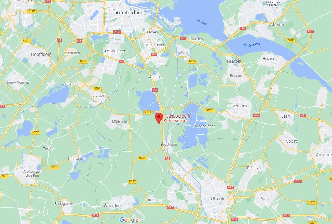 kaasboerderij sterreschans op google maps