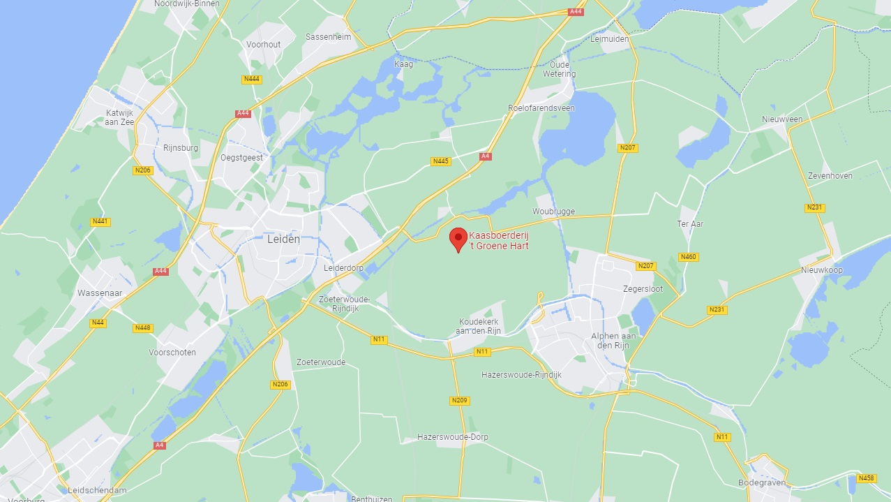 kaasboerderij 't groene hart op google maps